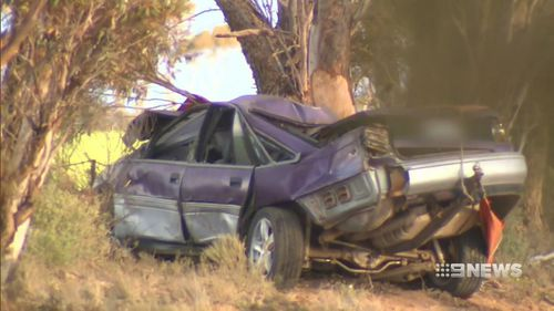 The teen driver died at the scene. Picture: 9NEWS