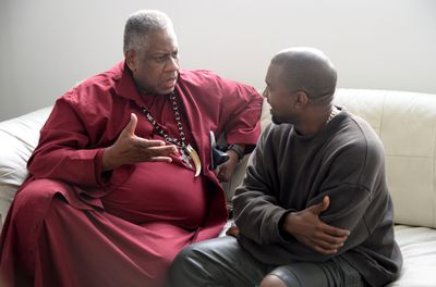 Andre Leon Talley and Kanye West.