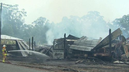 The shed and its contents – prized family heirlooms – could not be saved. (9NEWS)
