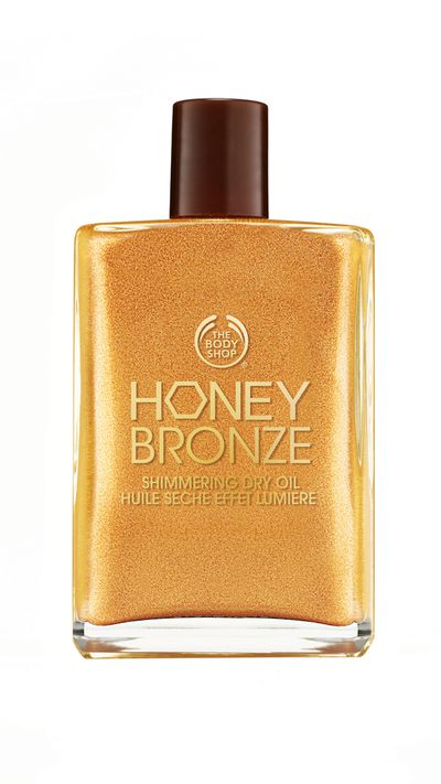 "<p><a href=""http://www.thebodyshop.com.au/make-up/bronzing/honey-bronze-shimmering-dry-oil.aspx#.VVVRJvmqpBc"" target=""_blank"">Honey Bronze Shimmering Dry Oil Golden, $32.95, The Body Shop</a></p><p>Perfect for a year-round glowing complexion, this dry oil uses ethically sourced honey from the Ba'le forest in Ethiopia. The sweet ingredient helps moisturise the skin's surface.&nbsp;</p>"