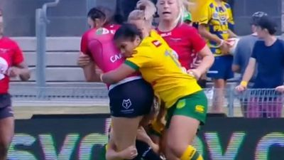 Canada's Janai Haupapa charged with biting Jillaroos' Renae Kunst at women's Rugby League World Cup