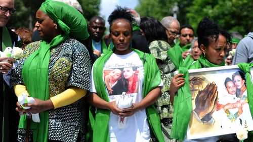 "Green has been adopted as the colour of the commemorative ""green for Grenfell"" campaign. Picture: Getty"