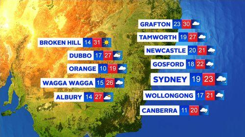 Sydney is set for plenty of rain this week. (9NEWS)
