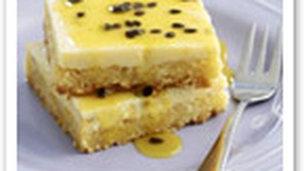 Lemon passionfruit slice