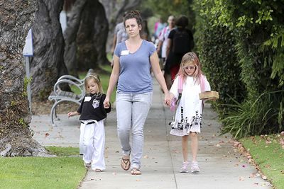 Jennifer Garner's delightful duo, Violet and Seraphina are seen returning from a Halloween party with their nanny.