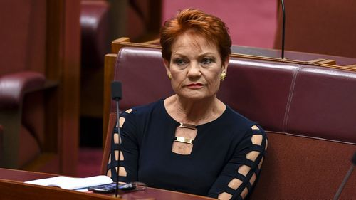 Senator Pauline Hanson of One Nation.