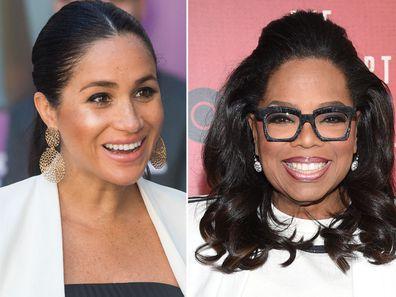 Oprah defends Meghan against 'unfair' press treatment.