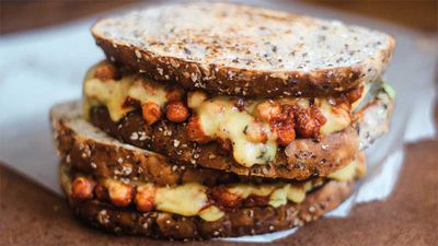 "Recipe: <a href=""http://kitchen.nine.com.au/2017/04/11/11/21/sam-murphy-vegan-chilli-chickpea-sandwich"" target=""_top"">Sam Murphy's vegan chilli chickpea sandwich</a>"