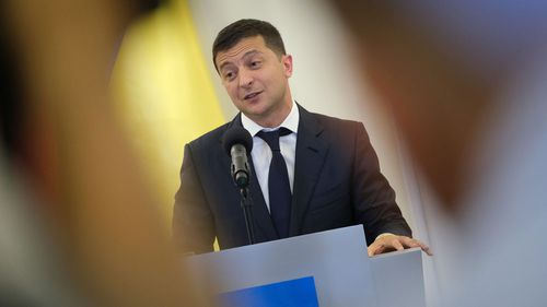 Ukrainian President Volodymyr Zelensky was a comedian before he was recently elected.