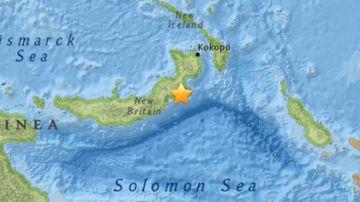 The 7.1 magnitude quake struck at around 6:06pm AEST. (US Geological Survey)