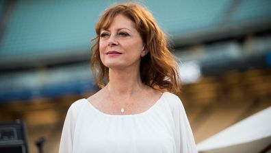 Actress Susan Sarandon attends Clayton Kershaw's 4th annual 'Ping Pong 4 Purpose Celebrity Tournament' at Dodger Stadium on August 11, 2016 in Los Angeles, California.