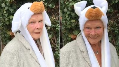 """Judi Dench wants us to """"just keep laughing""""."""