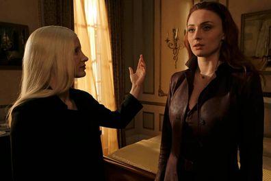 Jessica Chastain and Sophie turner in 'X-Men: Dark Phoenix'.
