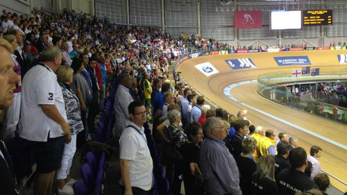 The crowd during Meares' presentation.
