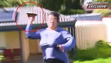 Brick thrown at ACA cameraman