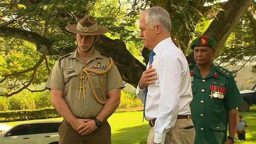 This was Mr Turnbull's first trip to PNG as Prime Minister.