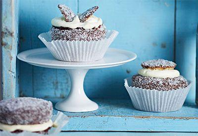 Lamington angel cupcakes
