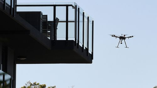 The guns are already in use by authorities, with a drone brought down on the Gold Coast on Sunday night for being within 100m of an exclusion zone. Picture: AAP.