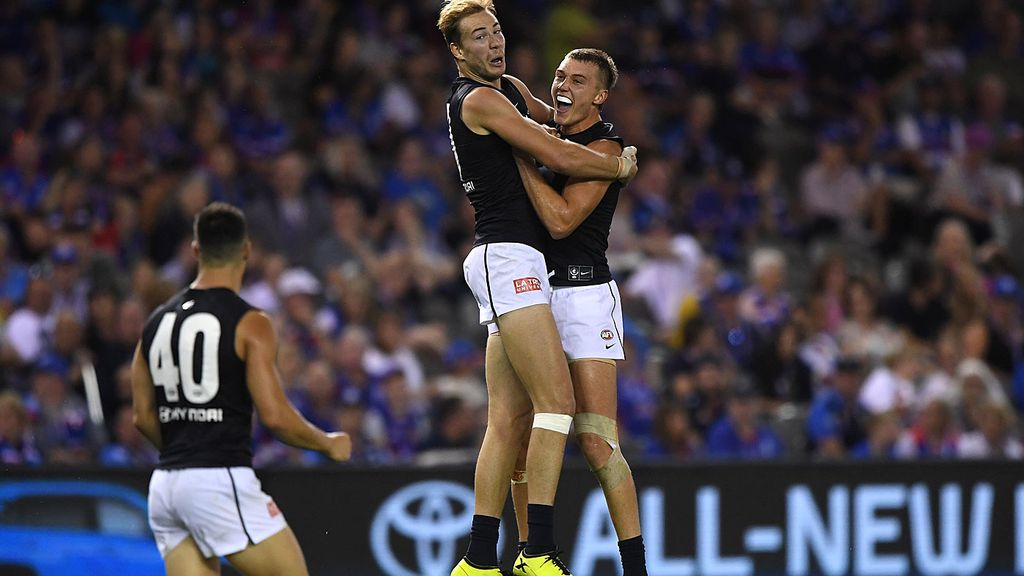 Carlton beat Western Bulldogs for first win of the 2019 AFL
