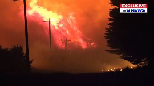 The Terang-Cobden Road fire is the largest at about 12,000 hectares in size. (9NEWS)