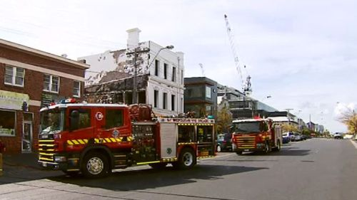 Firefighters extinguished the blaze quickly once they arrived. (9NEWS)