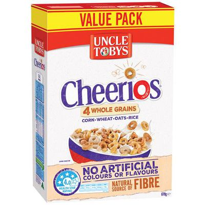 Uncle Toby's Cheerios Wholegrain - 14.6g sugars per 100g