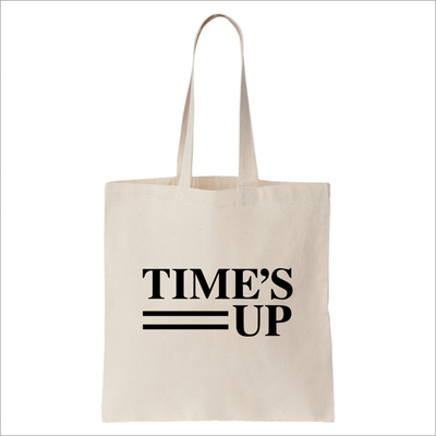 "<a href=""https://store.timesupnow.com/collections/frontpage/products/logo-canvas-tote-bag"" target=""_blank"" draggable=""false"">Official Time's Up tote bag, $15.25</a>"