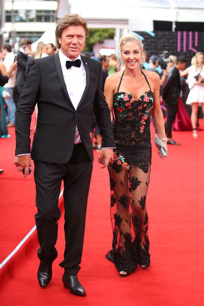 Richard Wilkins and Virginia Burmeister at the 2017 Aria Awards