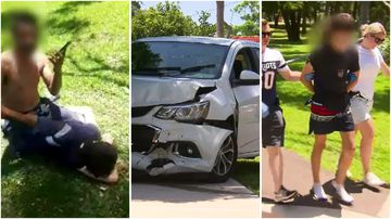 A teen has been stopped by a member of the public after crashing an allegedly stolen car.