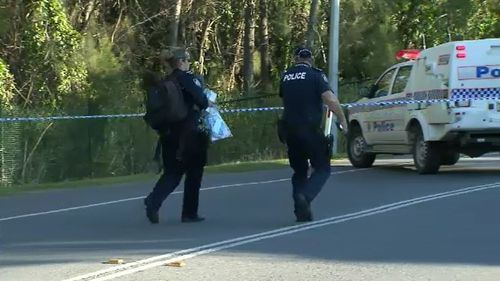 The 46-year-old man was rushed to hospital from the Helensvale road after he was thrown from a car. Picture: 9NEWS.