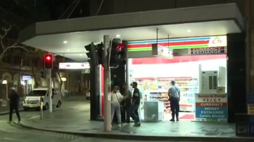 The robbery unfolded about 11pm yesterday. (9NEWS)