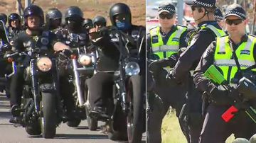 There are fears a bikie war could erupt