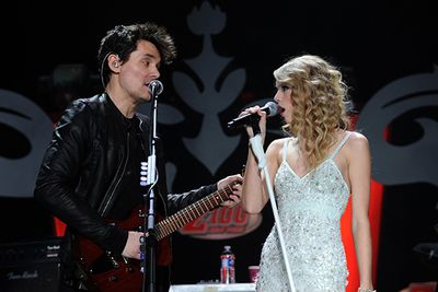 """The details on this particular tryst remain foggy, but it was regrettable enough to spawn vengeance songs from both parties. <br/><br/>In Swift's 'Dear John' she famously crooned, """"I'll look back and regret how I ignored when they said run as fast as you can."""" Mayer's 2013 single 'Paper Doll' hit back with lyrics, """"You're like 22 girls in one, and none of them know what they're running from.""""<br/>"""