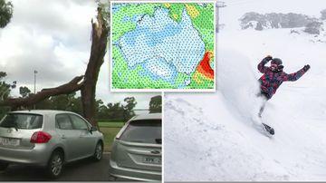 190604 Australia weather forecast rain storms snow Perisher SPLIT