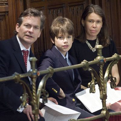 Arthur Chatto with his parents, 2010