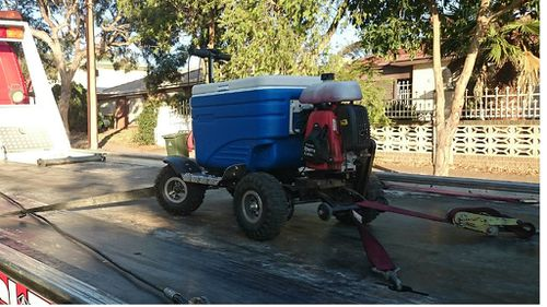 Adelaide man in hot water over alleged 'eskypade' atop motorised esky