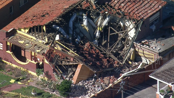 The Ashbury home partially collapsed.