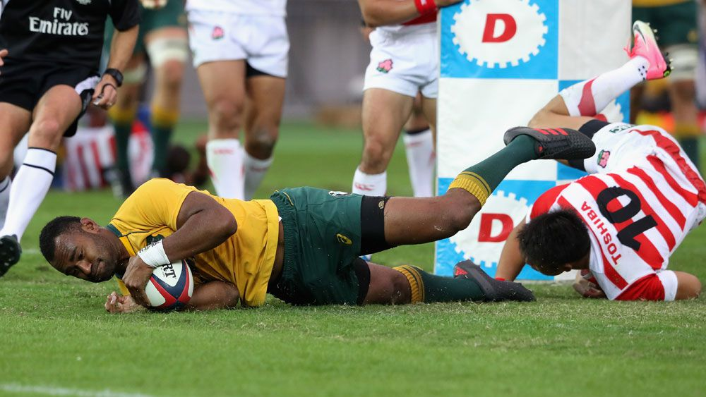 Wallabies open spring tour with Japan romp with Tevita Kuridrani grabbing a hat-trick
