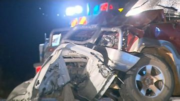 One dead, another fighting for life after highway smash
