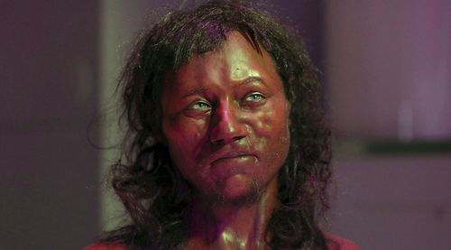 DNA from a 10,000-year-old skeleton found in an English cave reveal the oldest-known Briton had dark skin and blue eyes. (AAP)