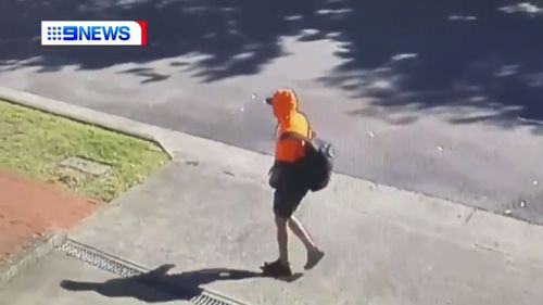 A man alleged to be Jamil Hopoate was seen with a backpack on CCTV before his arrest. The backpack allegedly contained 8kg of cocaine when it was later found thrown over a fence.