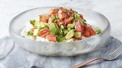 Poku's salmon and avocado 'salmocado' poké bowl