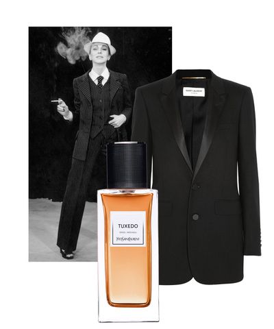 Each season the fashion world looks to iconic, classic pieces and re-interprets them for the modern consumer. This season, however, YSL has gone one step further and re-imagined five wardrobe staples as fragrances. Designed to dress the skin, the Tuxedo is smoky, spicy and bold, echoing the powerful masculine-feminine dichotomy of the piece.