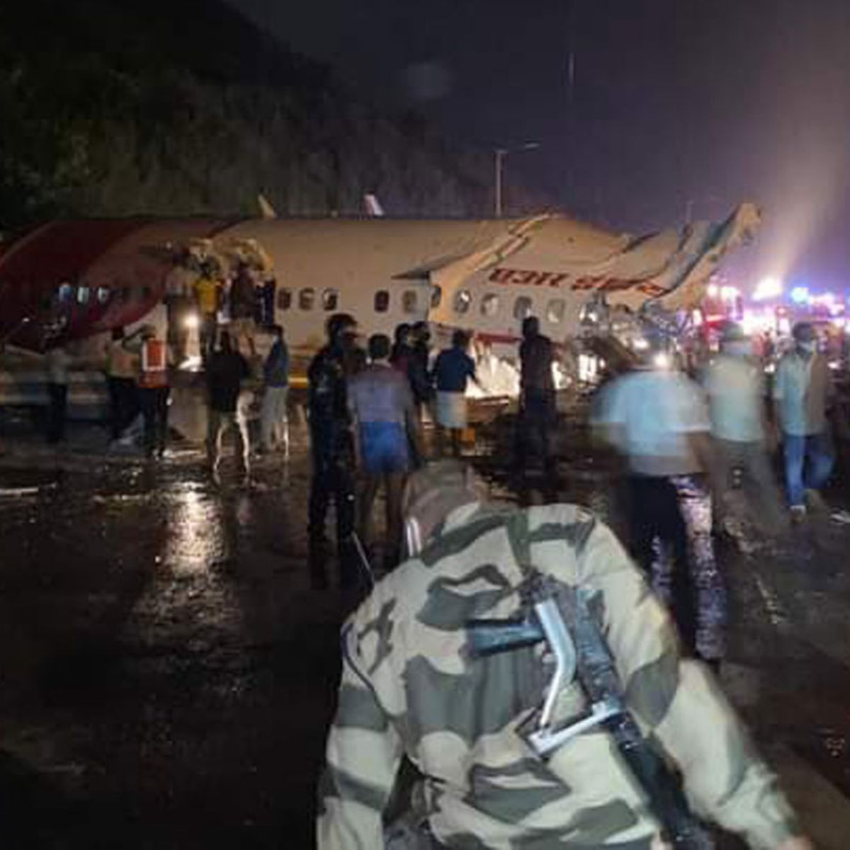 Air India plane crashes in Calicut after skidding off the runway