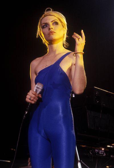 Debbie Harry on stage with Blondie in 1970.