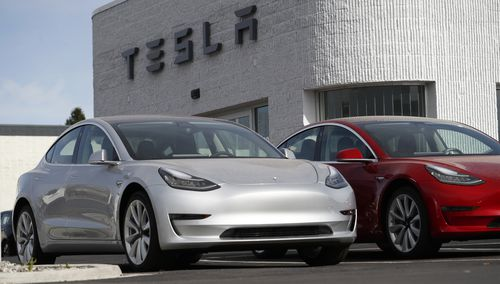 The Tesla Model 3 is Musk's latest creation to hit the road. (AAP)