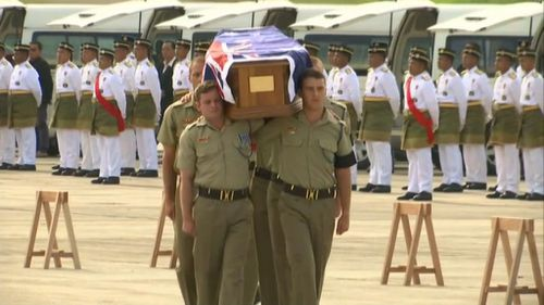 Bodies of 33 fallen Australian service personnel begin their journey home to Australia