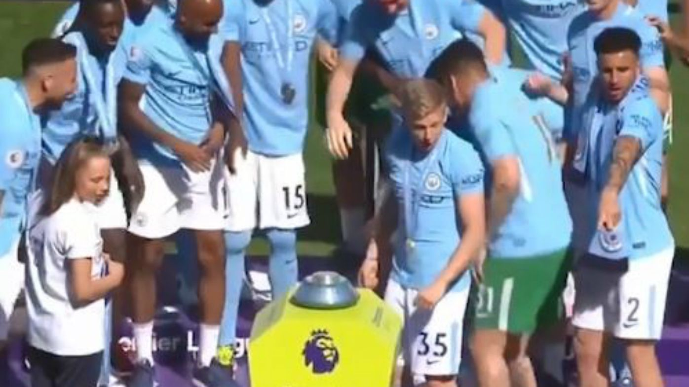 City players celebrate EPL title