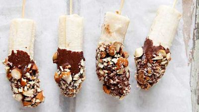 <strong>Brooke Meredith's frozen banana pops</strong>
