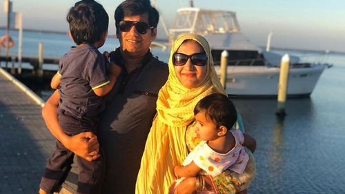 Urooj Usman and her husband Danish Ghori with their two children  Muhammad (2) and Zara (1).